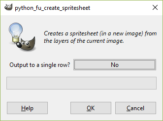 how to make a sprite sheet in gimp